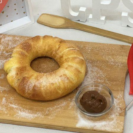 Roscón de bocadillo o dulce de guayaba