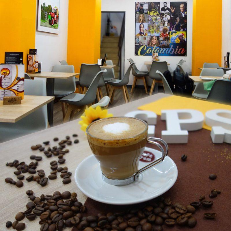 café cortado - café de Colombia