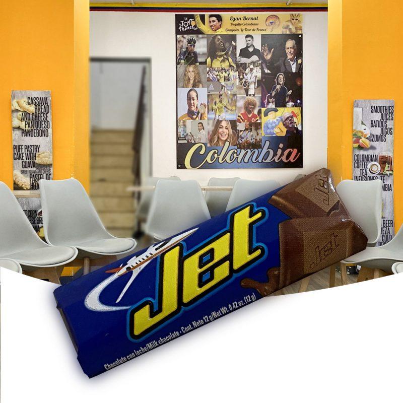 Chocolatina jet Colombianas
