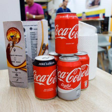 coca-cola en varios sabores