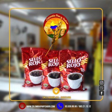 Café Colombiano marca 'Sello Rojo'.